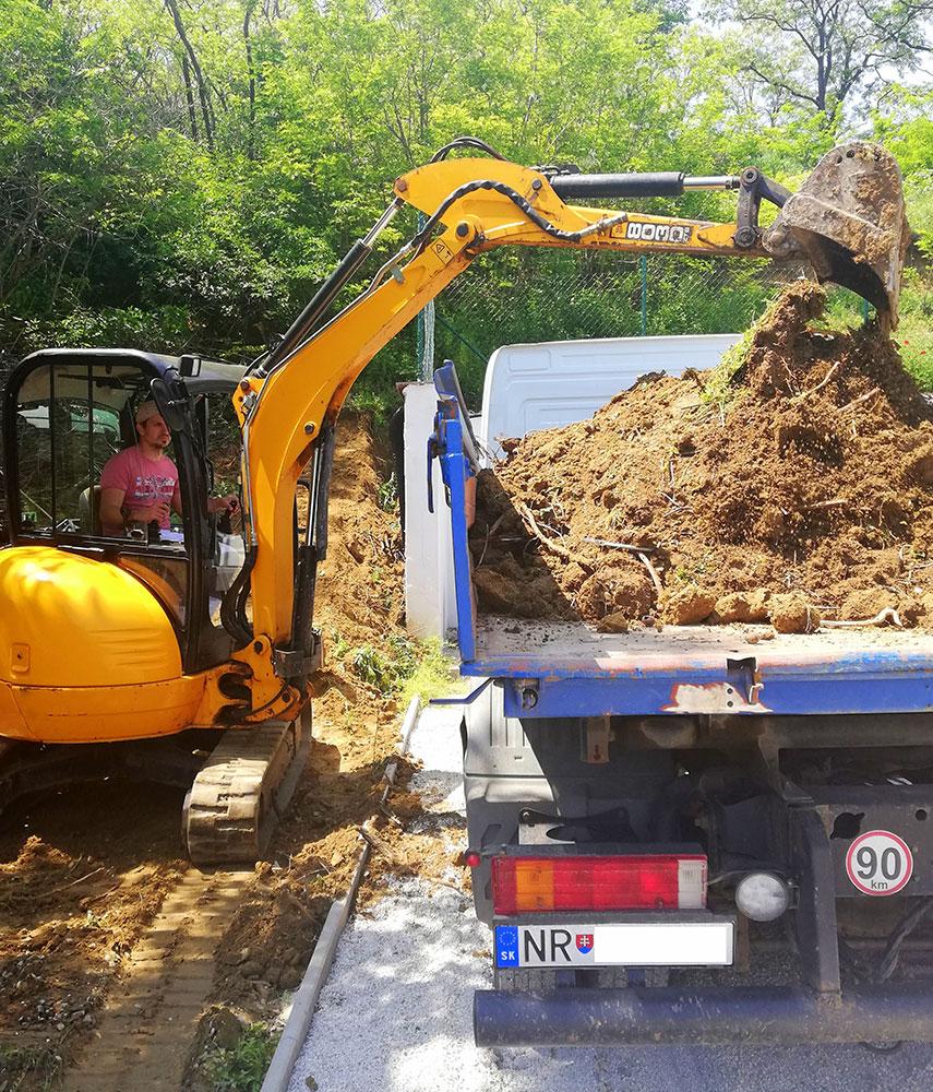 Odstraňovanie a nakladanie zeminy